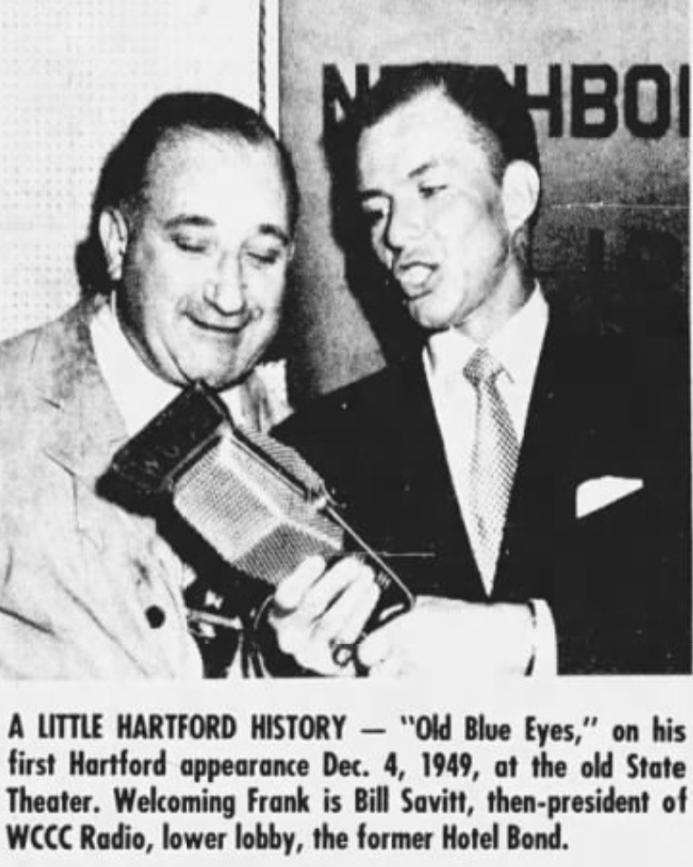 WCCC Hartford, Savitt with Sinatra, 1949.