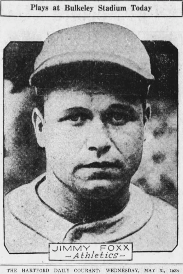 Jimmie Foxx, Philadelphia Athletics, 1933.