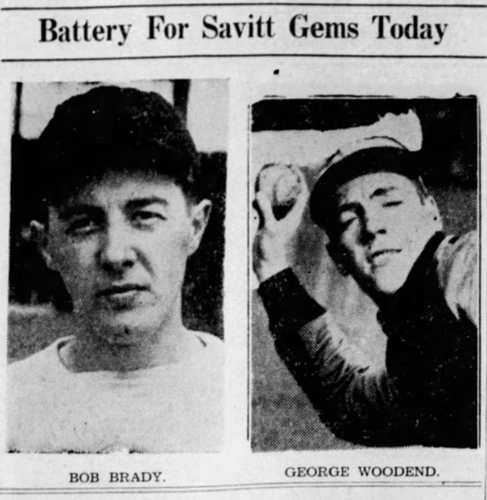 Bob Brady and George Woodend, Savitt Gems, 1942.