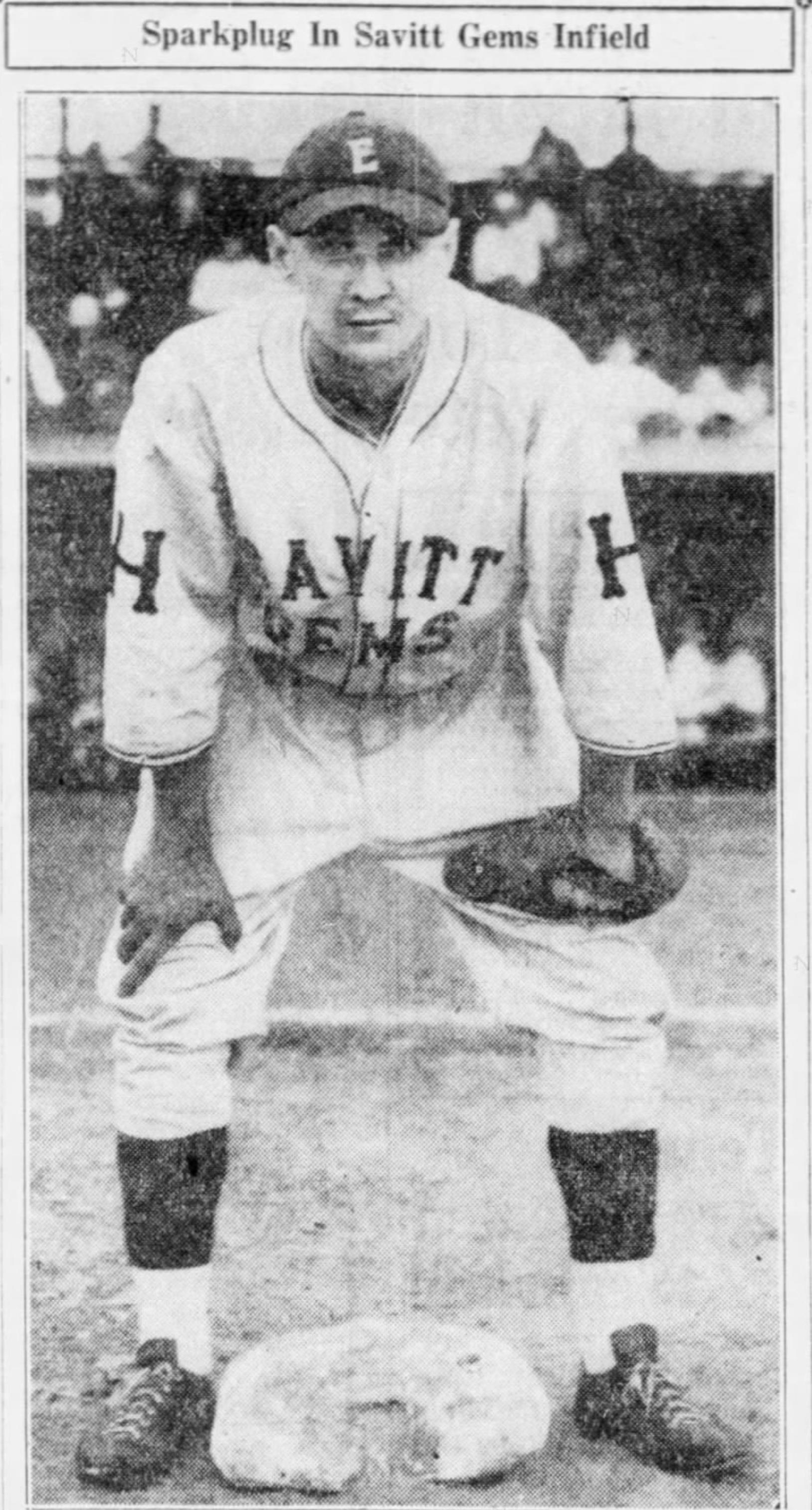 """George """"Bushy"""" Kapura, Savitt Gems, 1936."""
