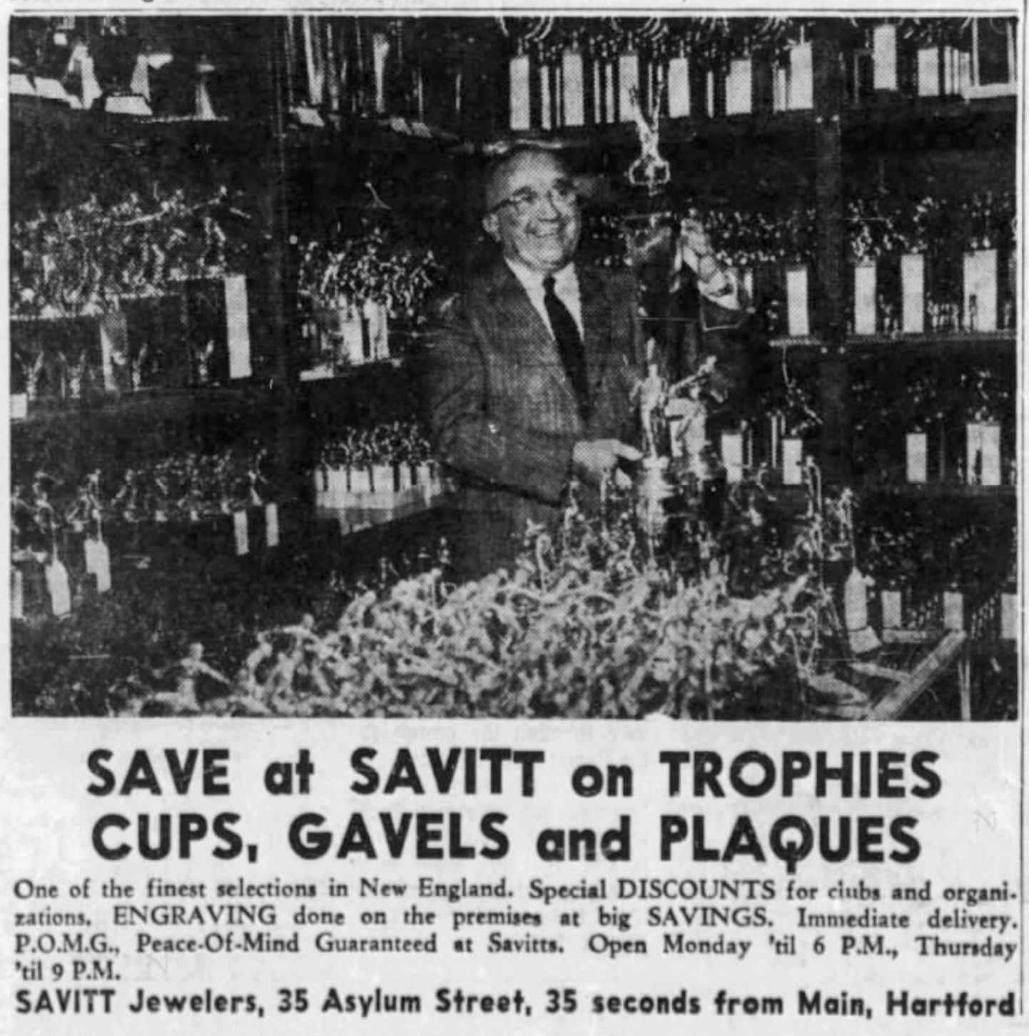 Bill Savitt, Savitt Jewelers, 1965.