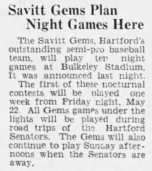 Hartford Courant excerpt, 1942.