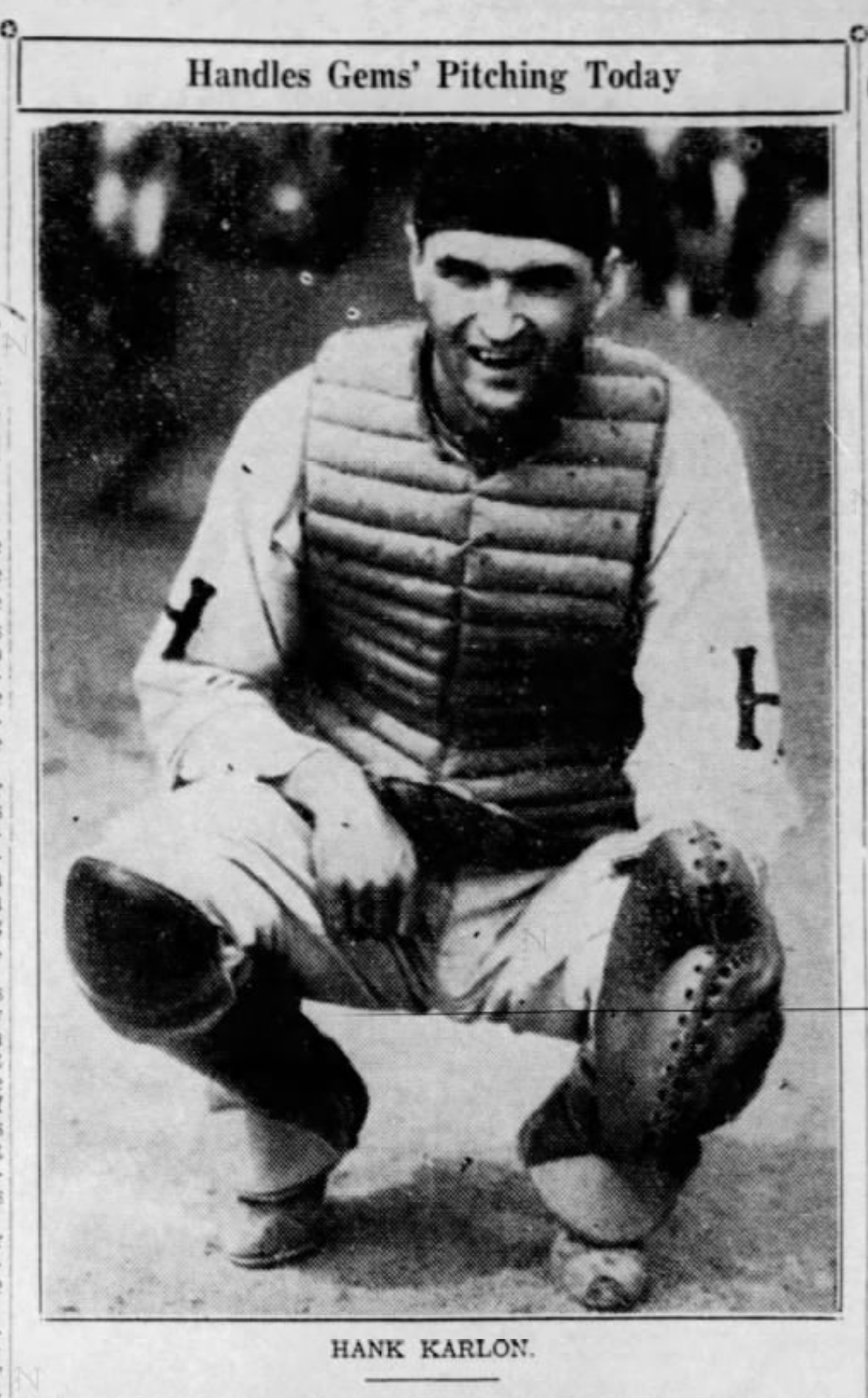 Hank Karlon, Savitt Gems, 1937.