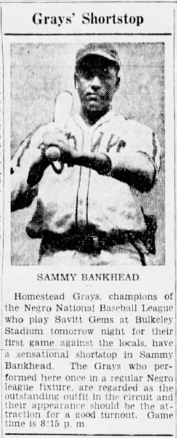 Savitt Gems vs. Homestead Grays, 1945.