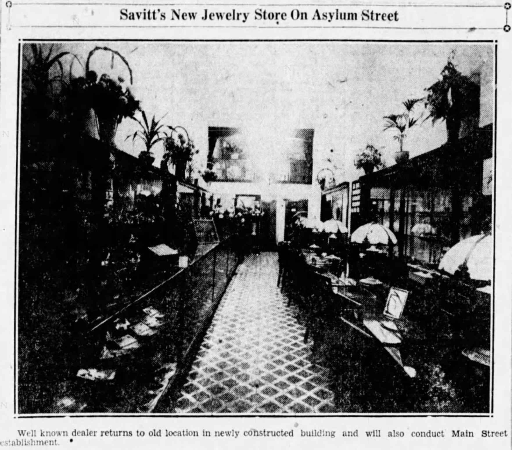 Savitt Jewelers, 1928.