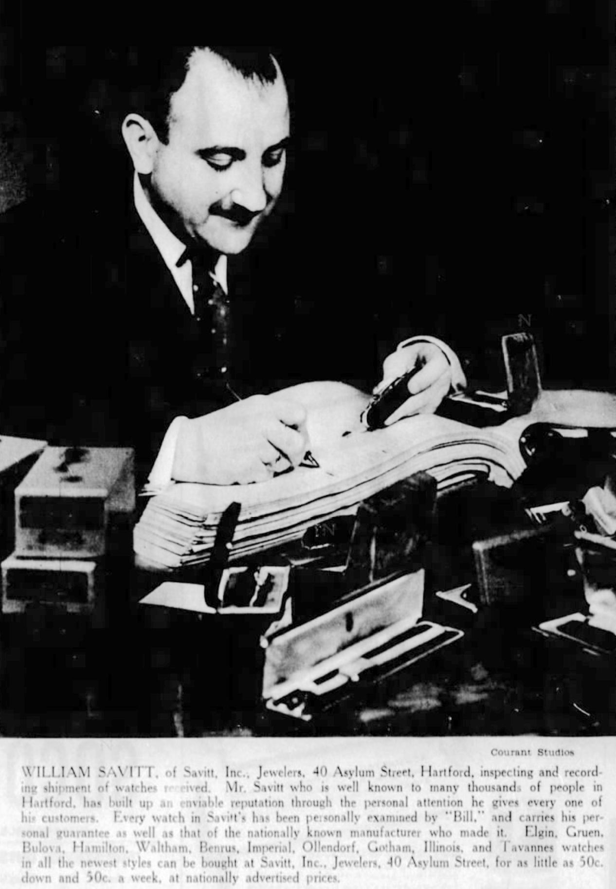 Bill Savitt, 1935.