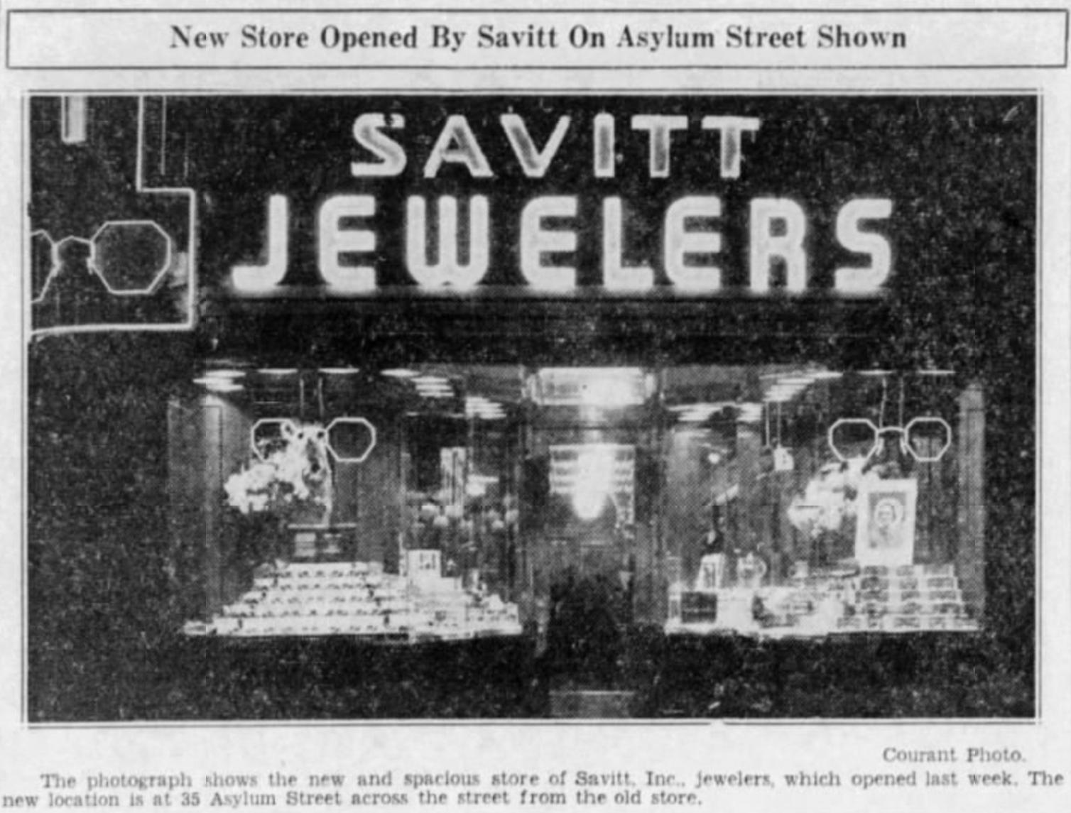 Savitt Jewelers exterior, 1936.