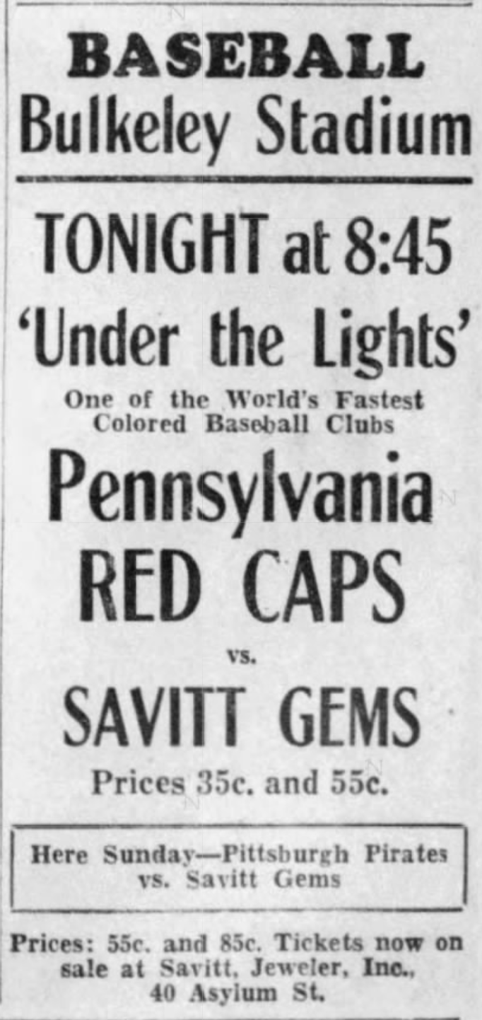 Savitt Gems vs. Pennsylvania Red Caps, 1933.