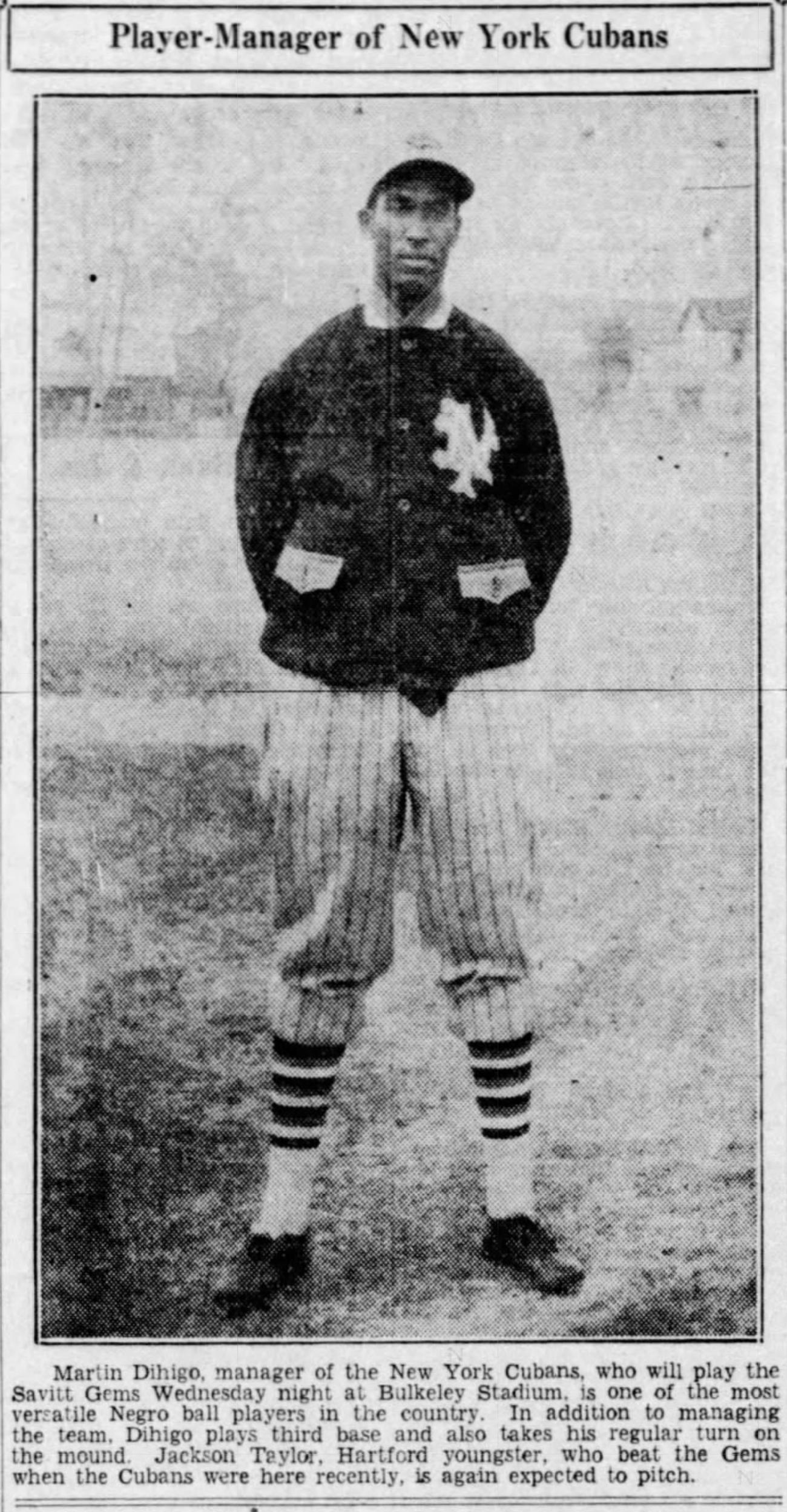 Martin Dihigo, New York Cubans, 1936.