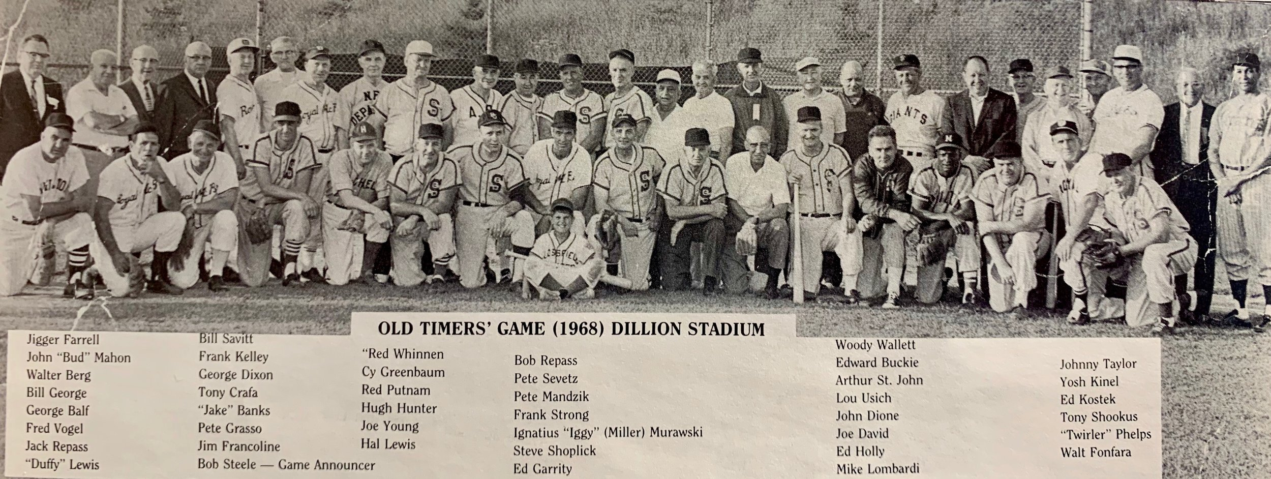 GHTBL Old Timers' Game, 1968.