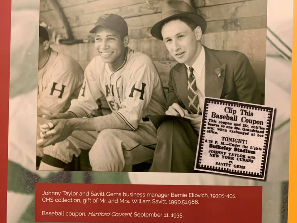 Johnny Taylor (left) on the Savitt Gems and the team's business manager, Bernie Ellovich.