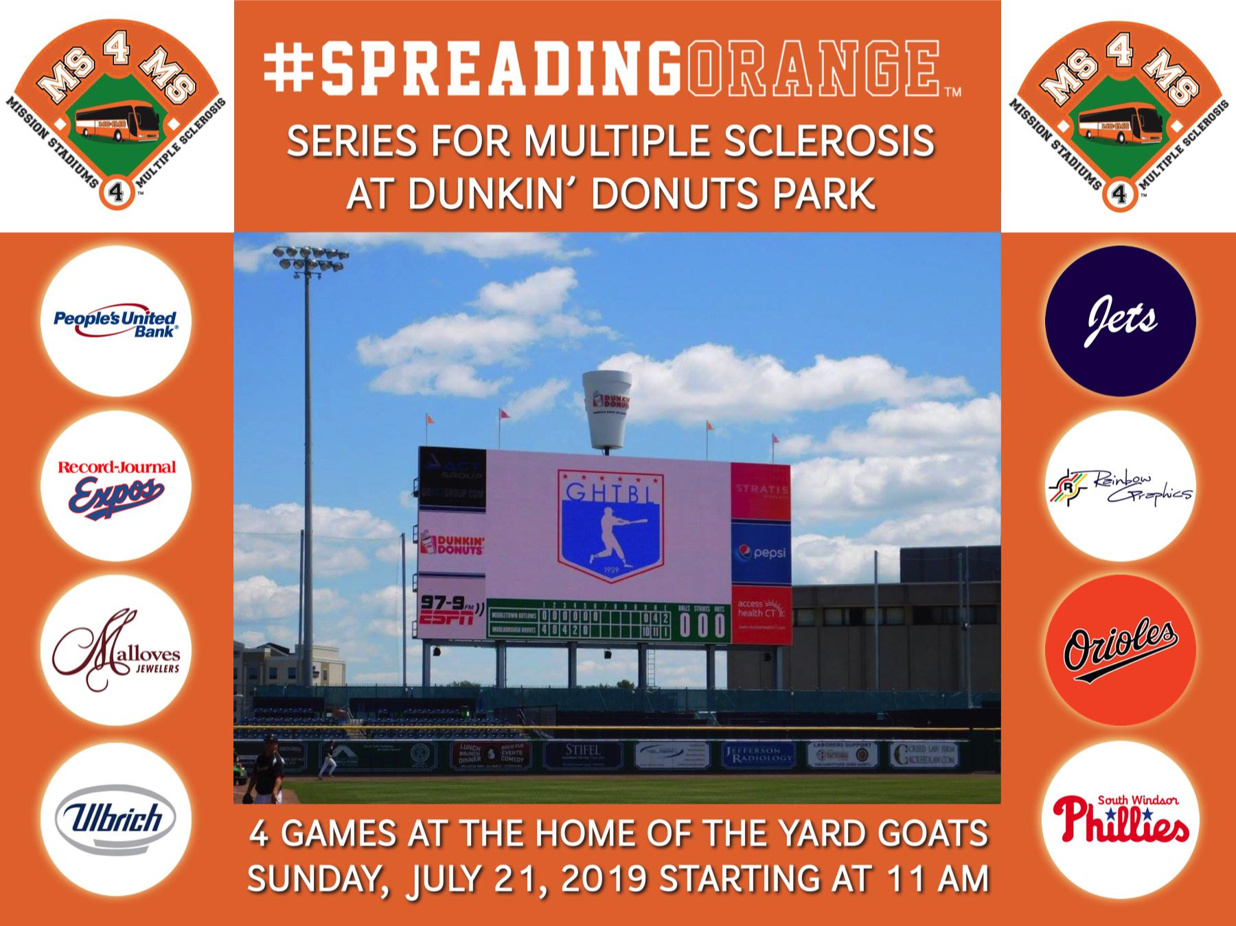 #spreadingORANGE Series for Multiple Sclerosis at Dunkin' Donuts Park.jpg