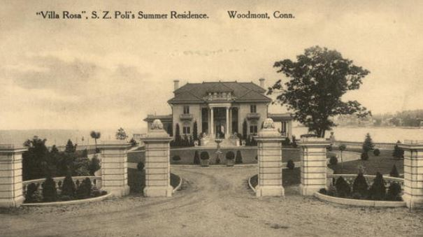 "The summer home of Sylvester Z. Poli and his family, ""Villa Rosa"" Woodmont, Connecticut, 1910."