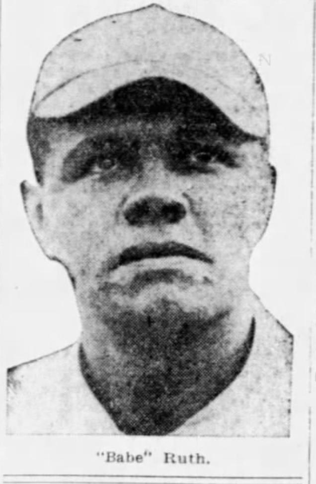 Babe Ruth, 1918.