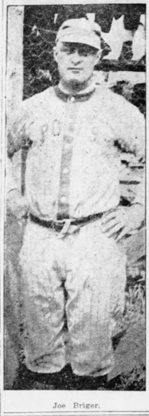 Joe Briger, Catcher, Hartford Poli's, 1918.