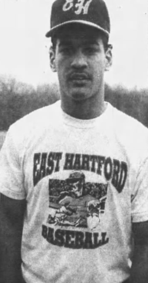 Jimmy Gonzalez, Catcher, East Hartford High School, 1990.
