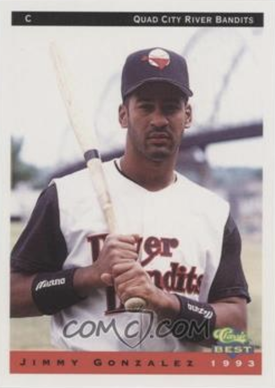 Jimmy Gonzalez, Catcher, Quad City River Bandits, 1993.