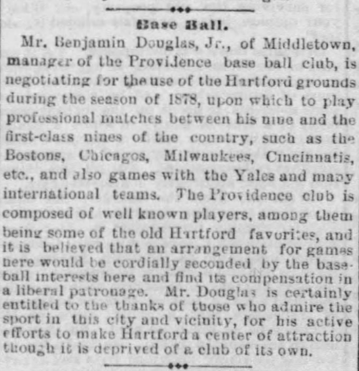 Hartford Courant excerpt, March 5, 1878.