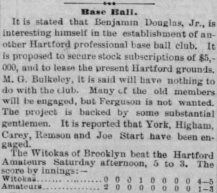 Hartford Courant Courant excerpt, 1877.