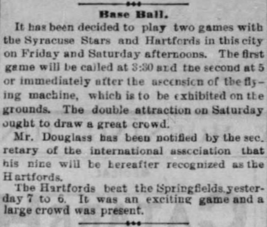 Hartford Courant excerpt, June 5, 1878.