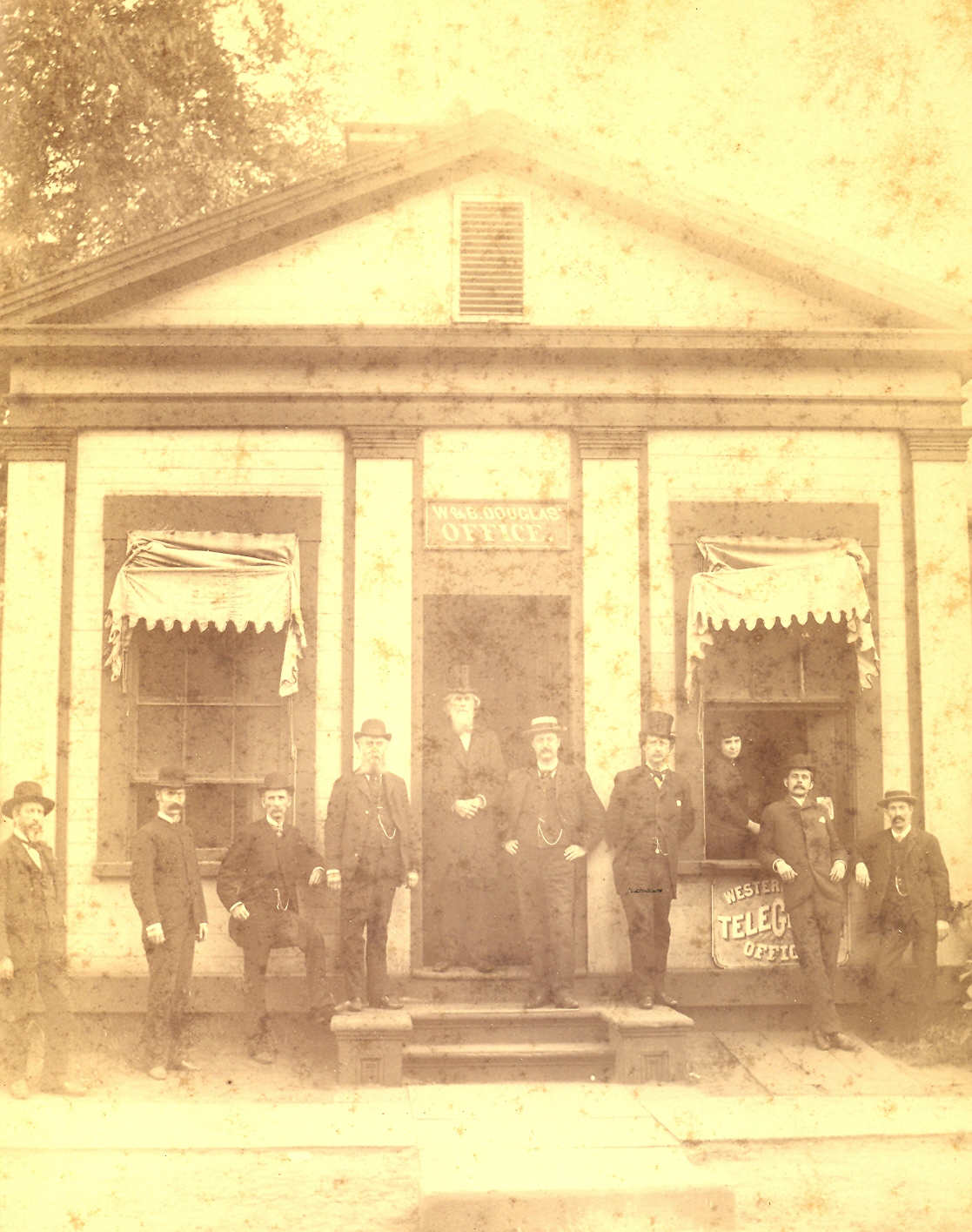Douglas Pump Company with Ben Douglas Sr. and Ben Douglas Jr. (5th from right), 1868.
