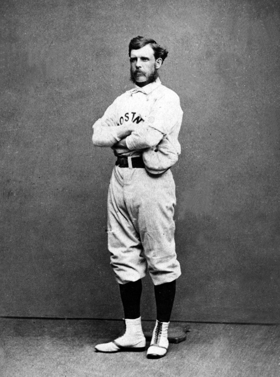 Harry Wright, Player-Mangaer, Boston Red Stockings.