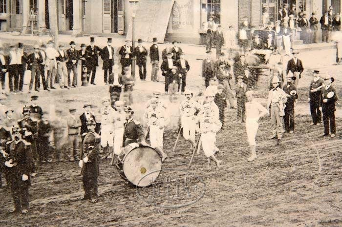 Mansfields of Middletown taking part in a parade, 1872.