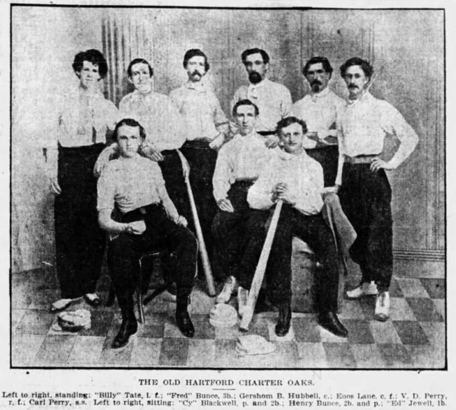 The Charter Oak Base Ball Club Of Hartford