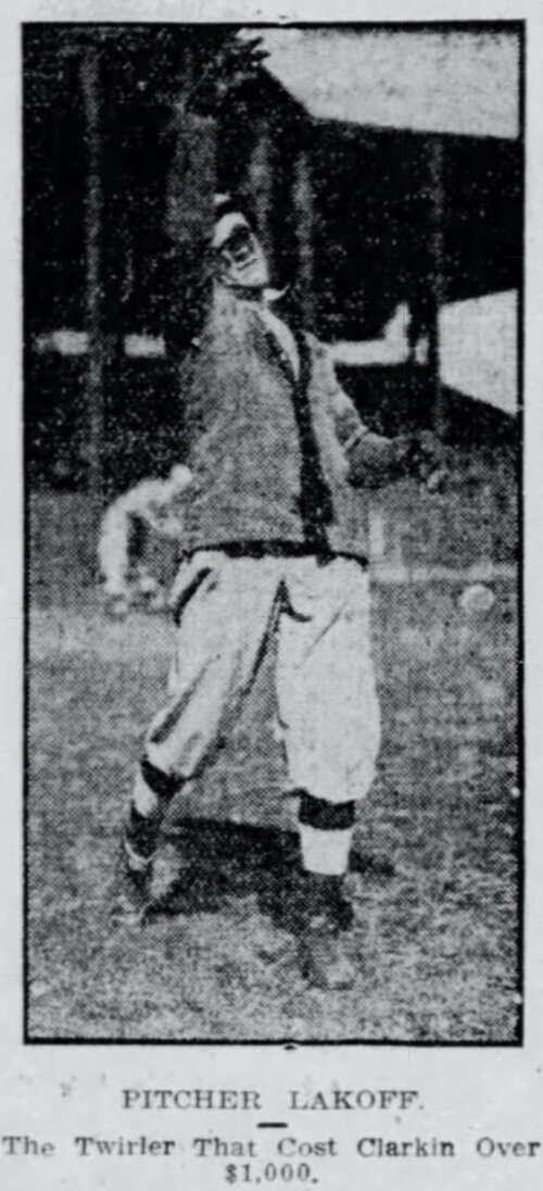 Nick Lakoff, Pitcher, Hartford Senators, 1911.