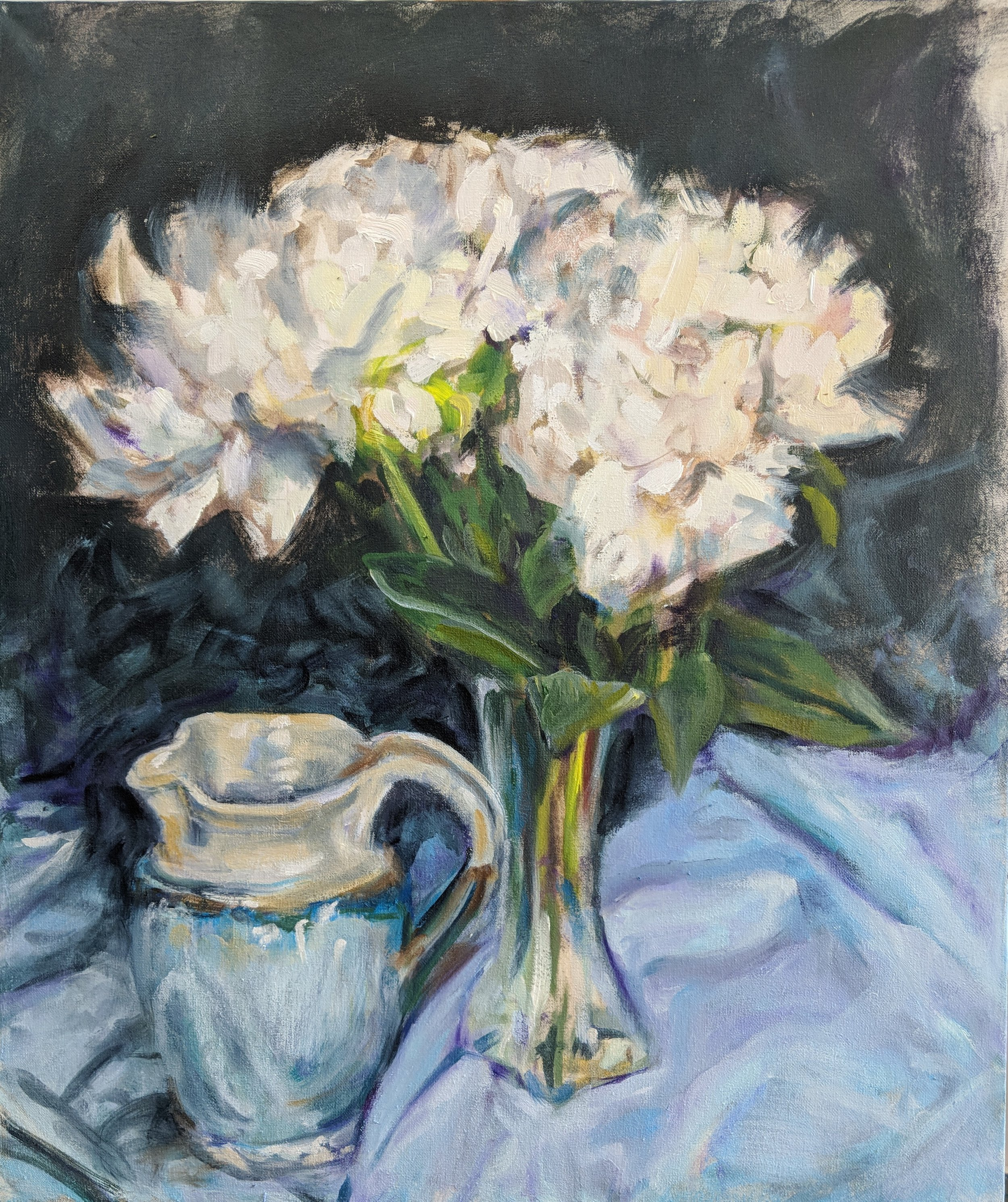Peonies with Pitcher