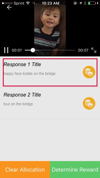 3. Select video you want to review.