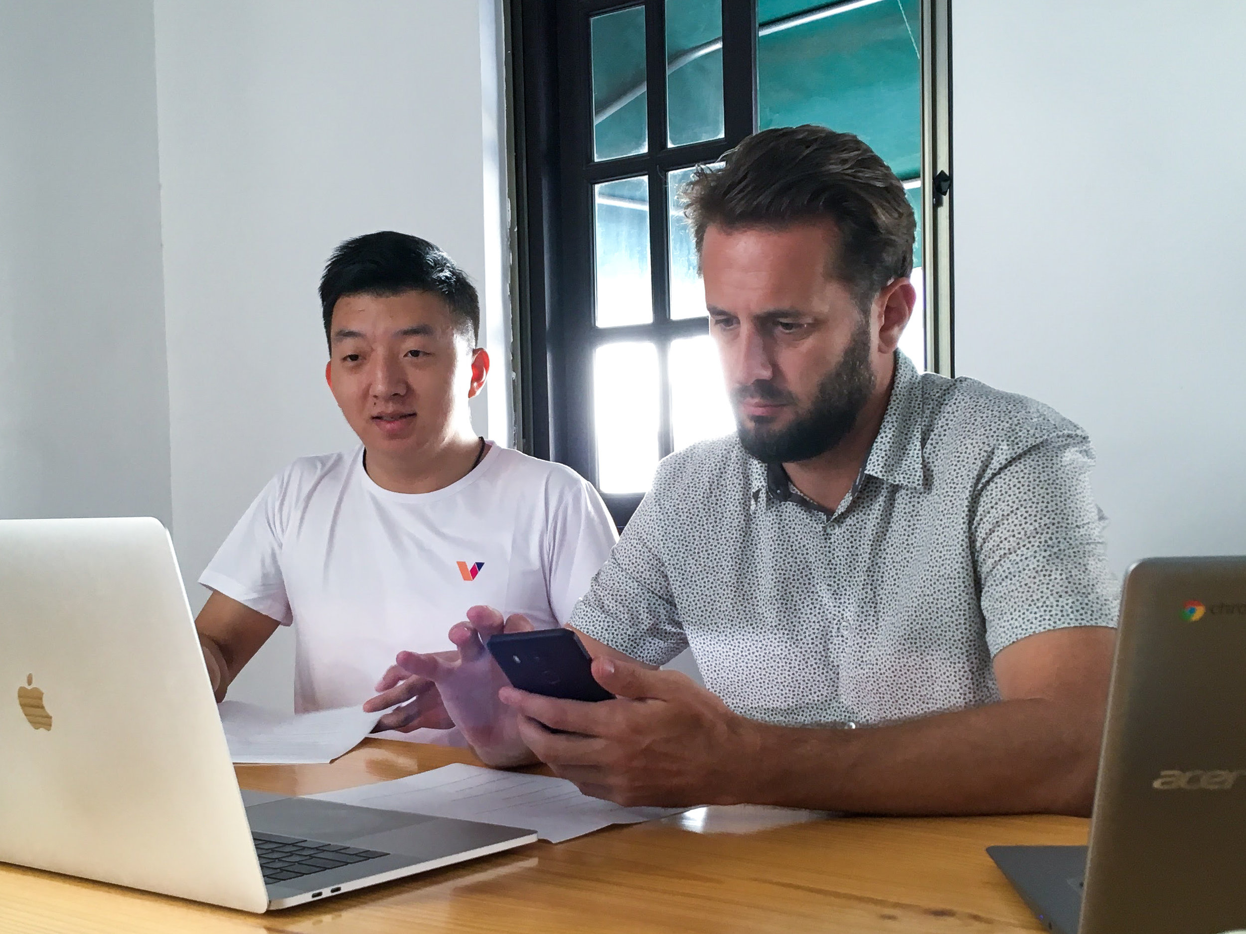 By a Pioneering Team of Creatives for Creatives - Vevue (pronounced vay-view) was founded by Thomas Olson (right) in 2012 with the initiative to source honest peer-to-peer original video content. He teamed up with co-founder Xiangu Meng (left) to make it happen.Together, they have been a driving force to push the boundaries of blockchain and create the next-generation of social media.Today, Vevue's team is competitive to some of the best-funded, most advanced teams in Silicon Valley and tech companies around the world. Reach out to any of the officers listed below for interviews or inquires.