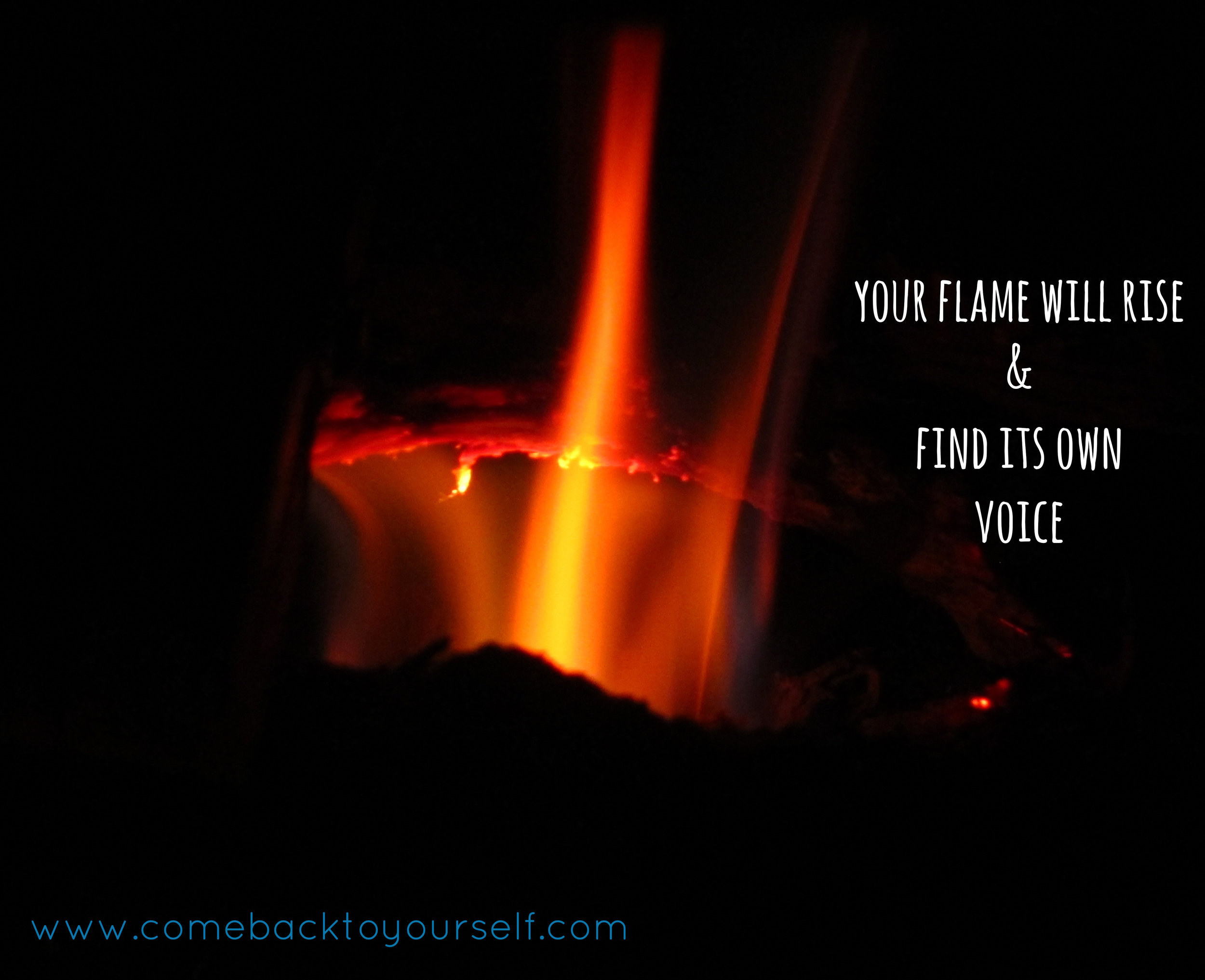 your flame come back to yourself retreats