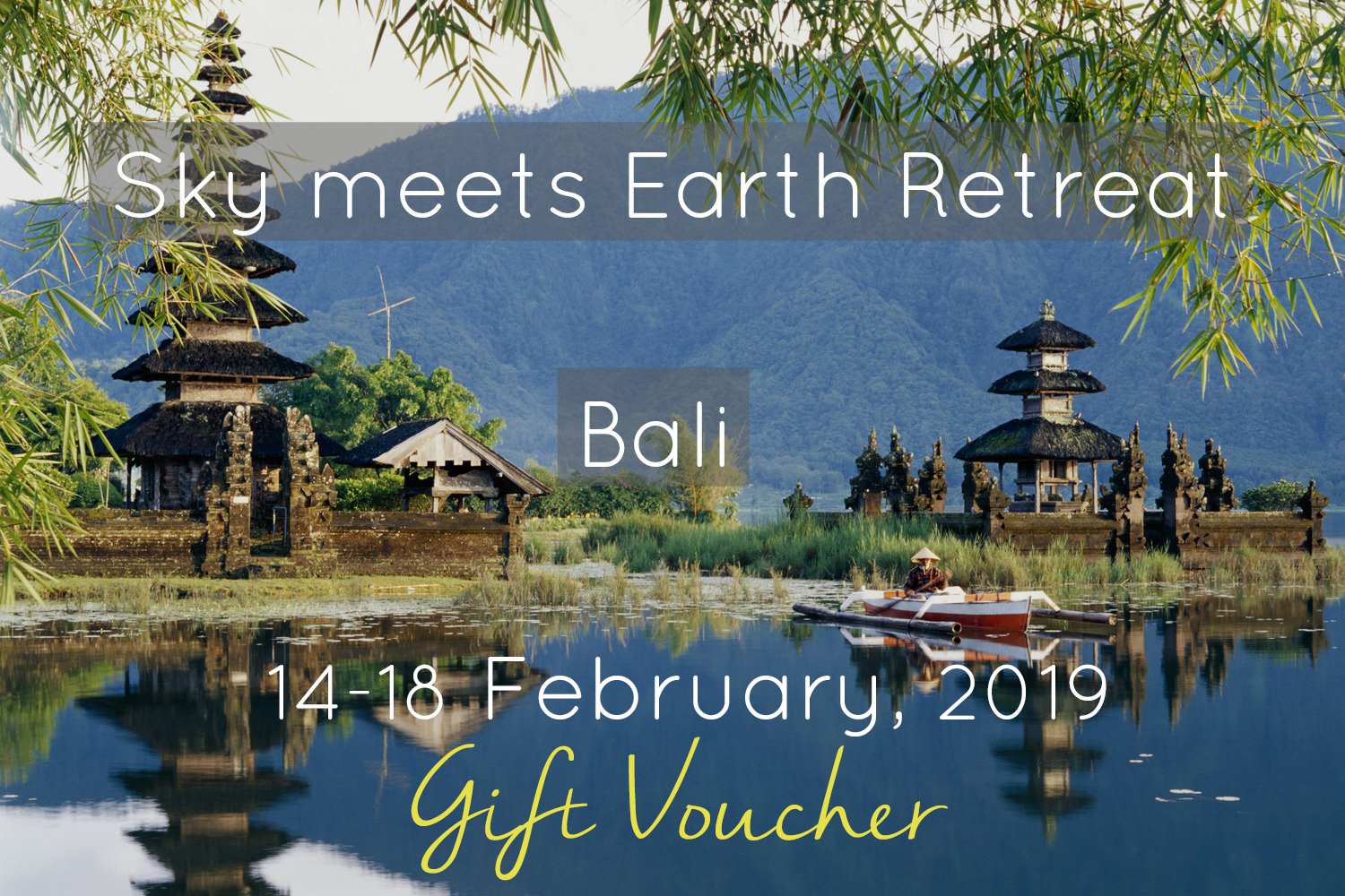 yoga and dance retreat gift card in bali