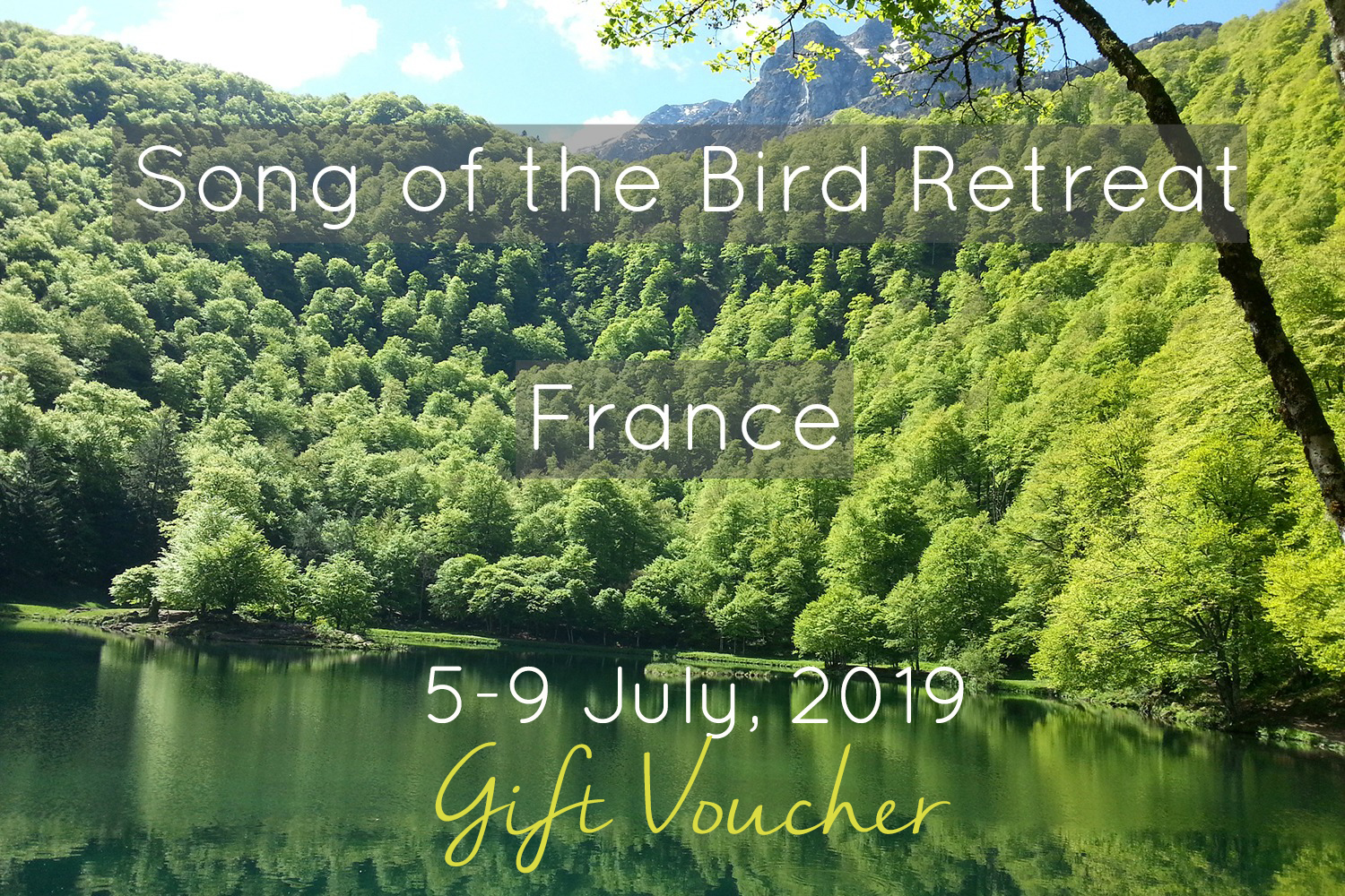gift card yoga and dance retreat france