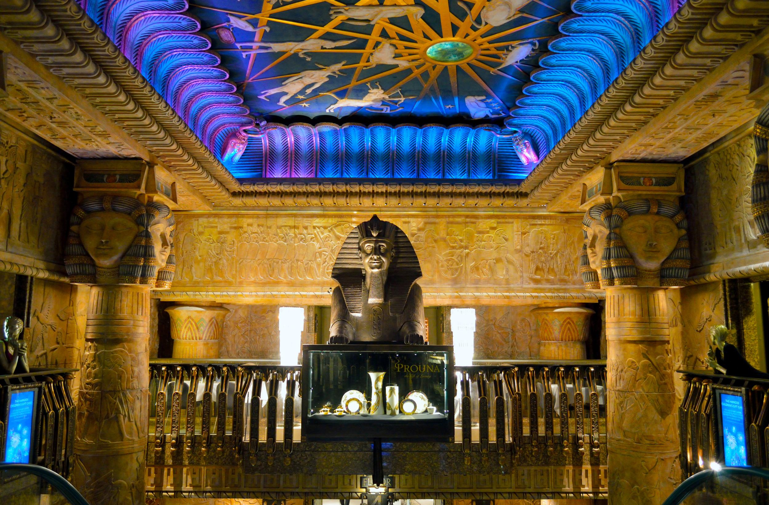 London, England; Egyptian Escalator; Harrods