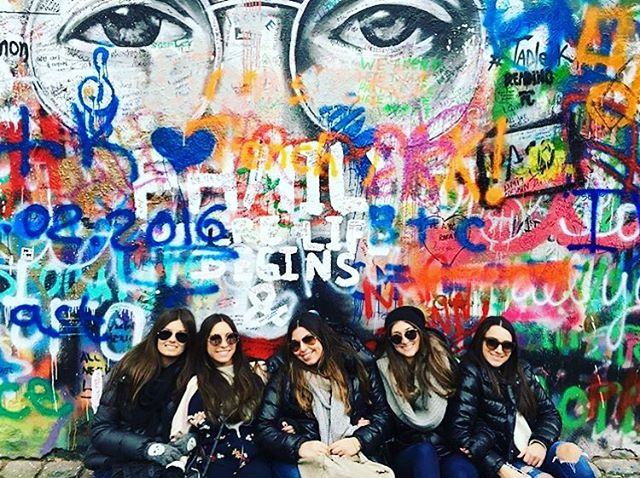 Location: Lennon Wall, Prague, Czech Republic🌍🇨🇿 Happy #NationalSunglassesDay! Look at these lovely ladies in their #sunglasses #abroad! #allthingsabroad #abroadlife #lifeabroad #life #studyabroad #study #student #girls #bestfriend #lennon #lennonwall #prague #praguegirl #praguestagram #praha #beautiful #beautifuldestinations #travel #travelgram #travelphotography #travellers