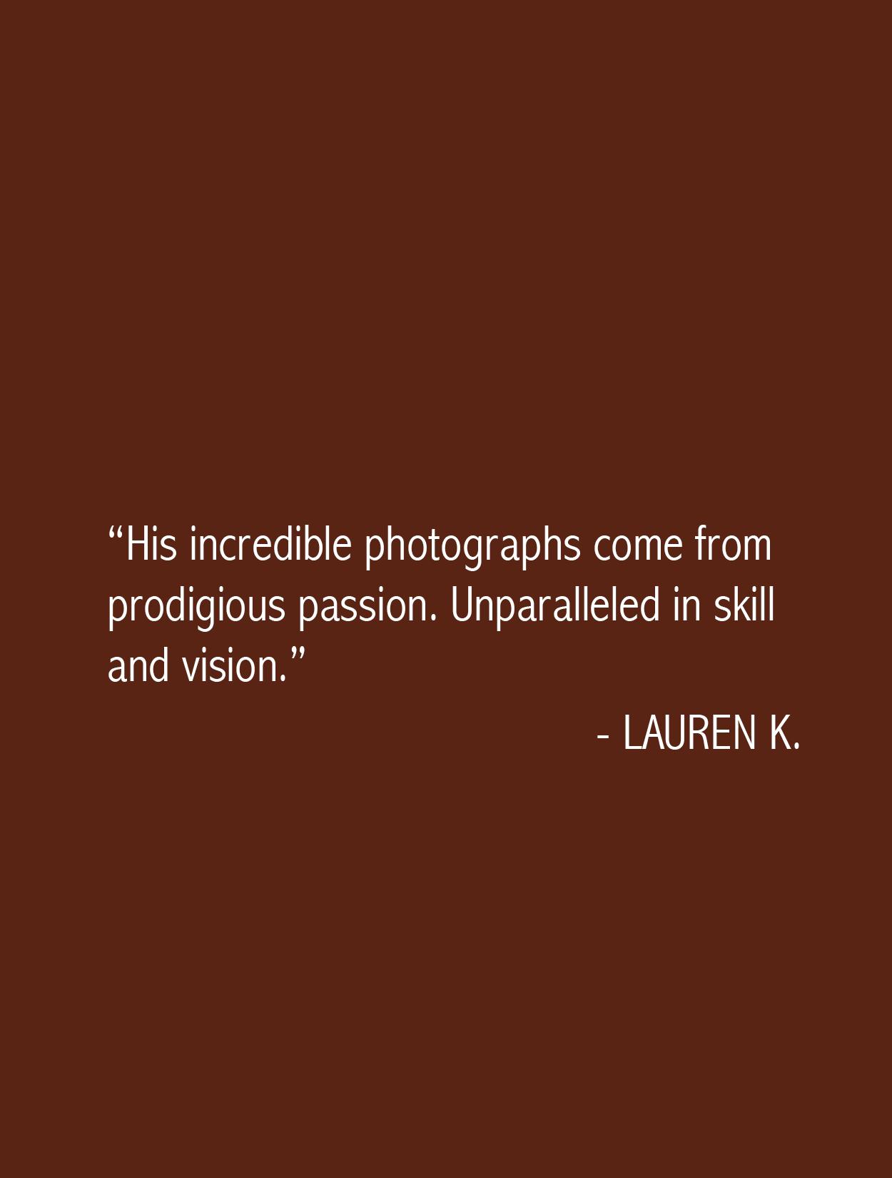 Lauren Testimonial Anh-Viet Dinh Photography