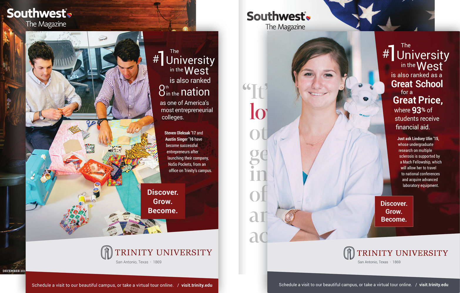 Trinity University Ads - Southwest Airlines Magazine