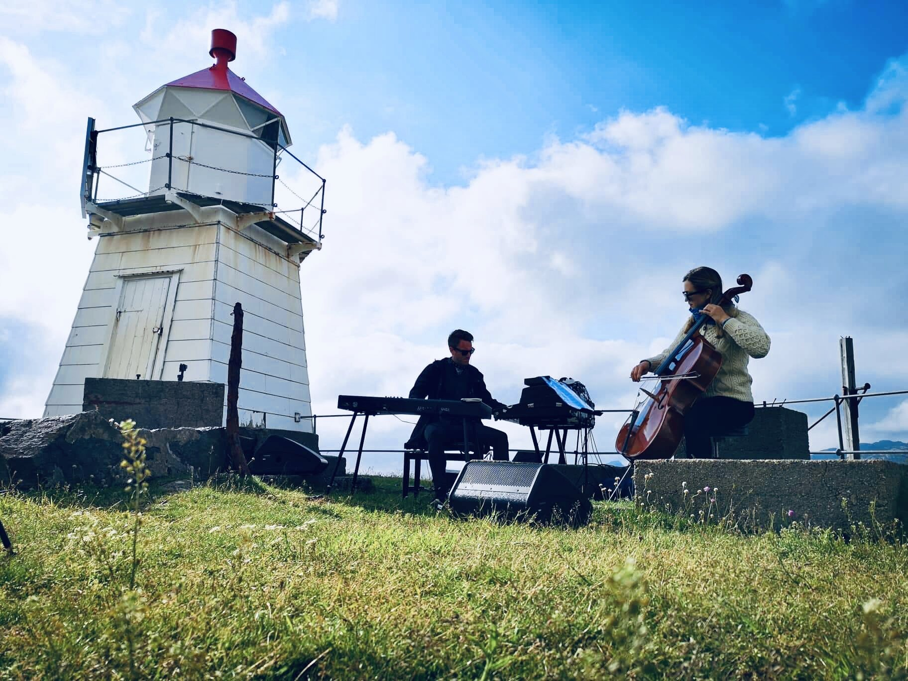 Lighthouse and band