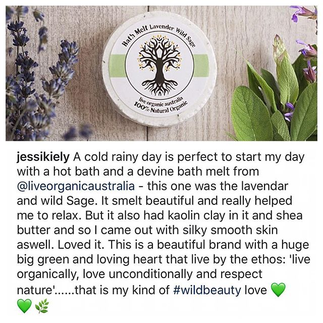 We at 'live organic australia' are so blessed to be able to share our beautiful products with each and everyone of you and love hearing how much you all enjoy the 'live organic australia' experience @jessikiely 🙏🏼 #organic #natural #soap #salts #eczema #psoriasis #skin #soap #pets #dogs #reiki #meditation #yoga #vegan #bathbombs #bodybutter #essentialoils #holistic #chemicalfree #crueltyfree #love #body #mind #soul #spirit #mineralsalts #athlete #bodybuilding