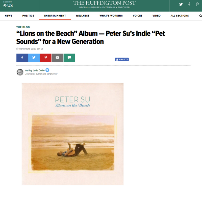 "The Huffington Post calls Lions on the Beach ""Pet Sounds for the millennial generation"""