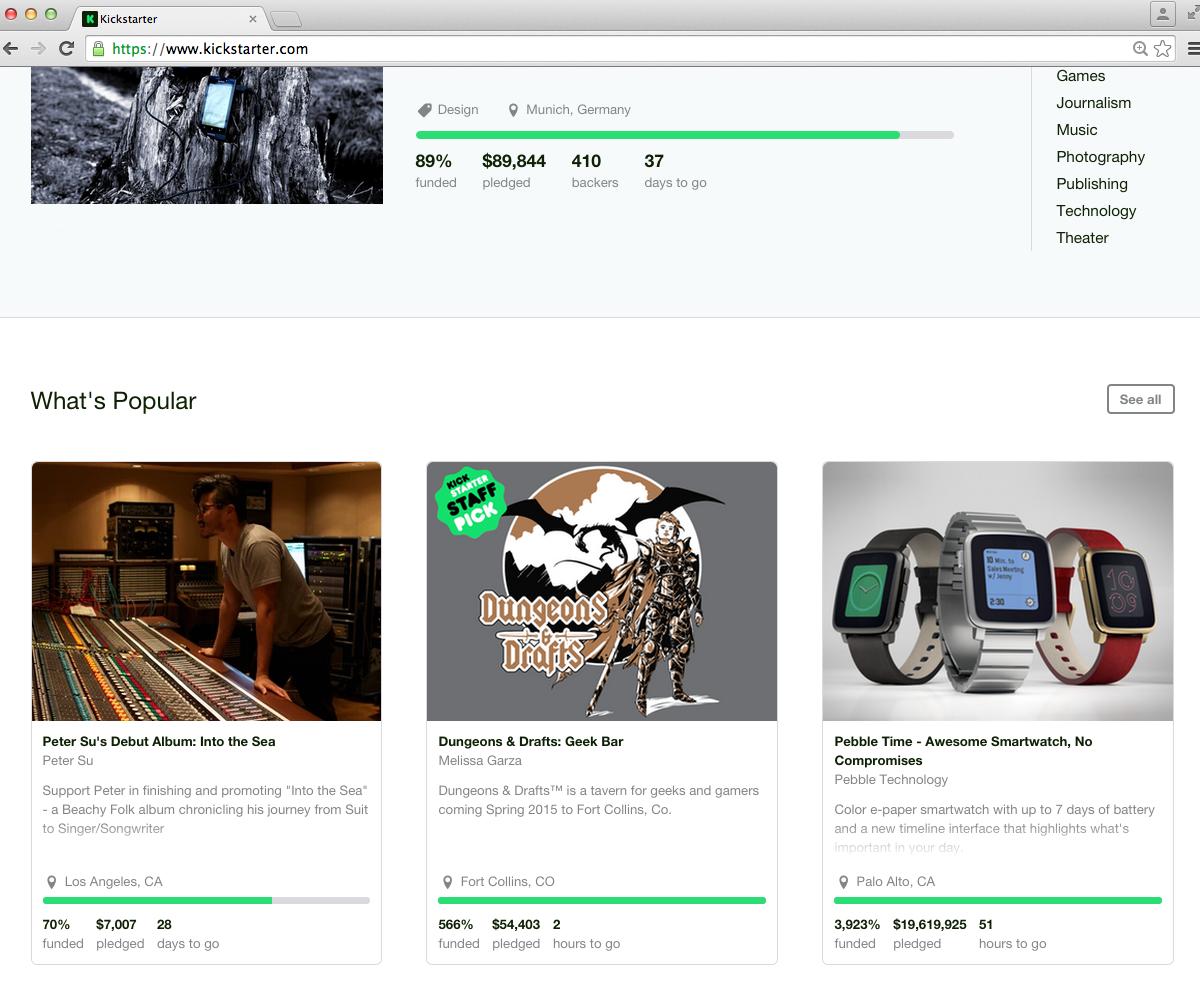 2015 Kickstarter Staff Pick