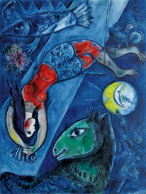 "Marc Chagall ""The Blue Circus"""