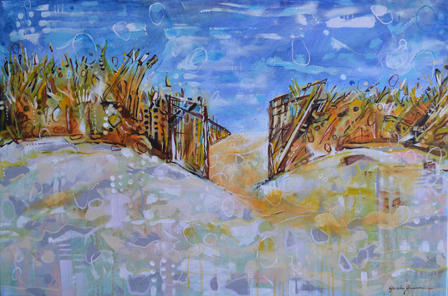 "Nauset  | 36"" x 24"" acrylic on canvas"