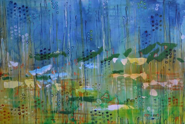 """Marshlands    36"""" x 24"""" acrylic on canvas"""