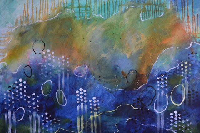 """Sailor's Delight    36"""" x 24"""" acrylic on canvas"""