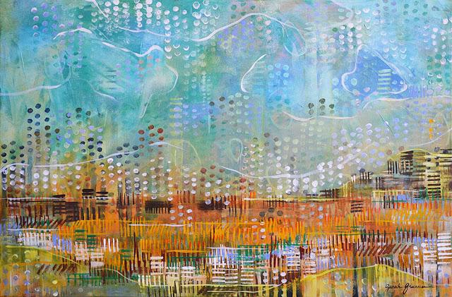 "Morning Marsh    36"" x 24"" acrylic on canvas"