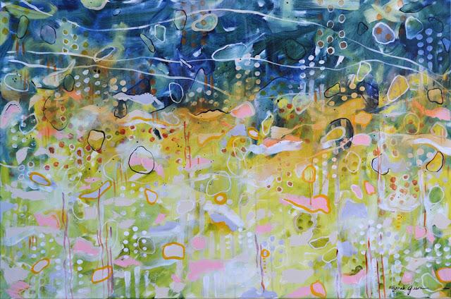 "Shoreline    36"" x 24"" acrylic on canvas"