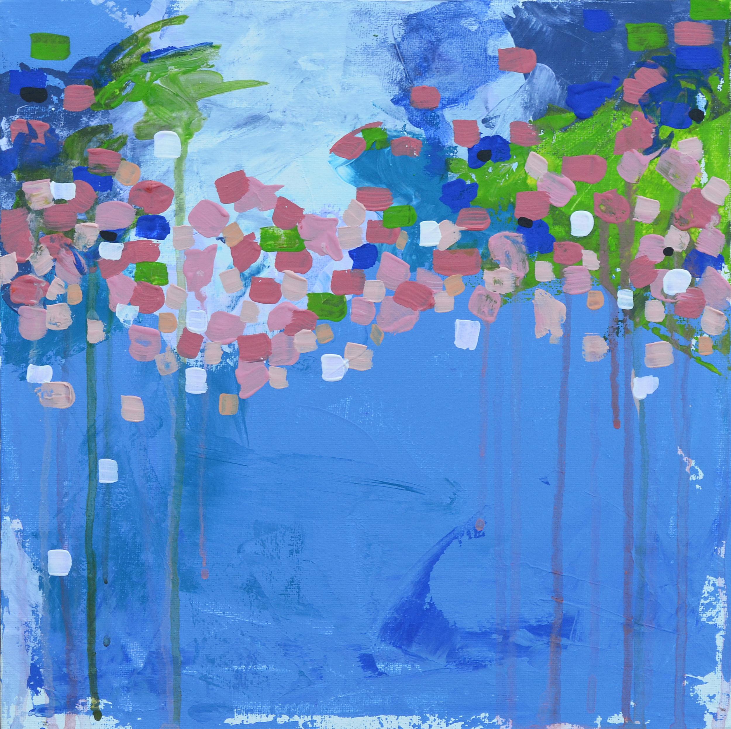 "Weedy Trophies | 12"" x 12"" gouache and acrylic on canvas"